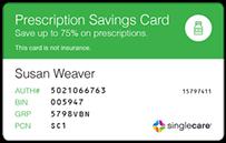 co branded announcement letters - Singlecare Prescription Card